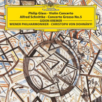Gidon Kremer, Vienna Philharmonic, Christoph von Dohnanyi - Philip Glass: Violin Concerto, Alfred Schnittke: Concerto Grosso No. 5 (LP)