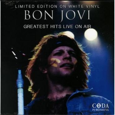 BON JOVI Greatest Hits Live On Air White Vinyl (Винил)